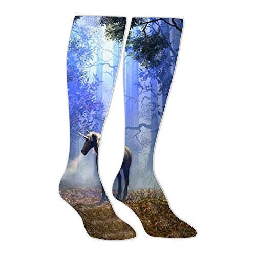 Knee High Stockings Abstract Fantasy Magic Unicorn Long Socks Sports Athletic for Man and ()