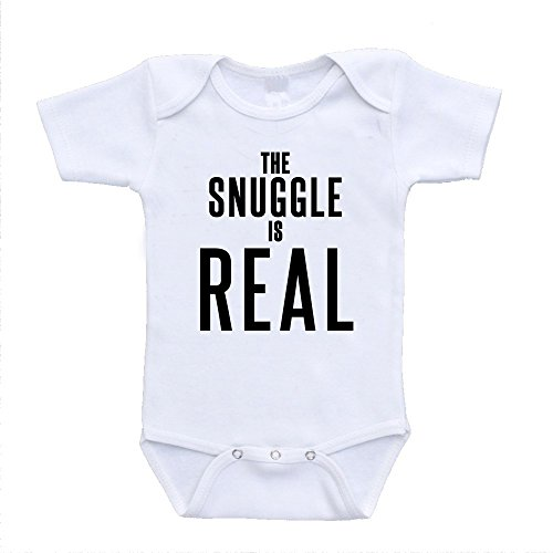 Real Designer Clothes (The Snuggle Is Real baby infant toddler bodysuits onesies one piece retro designer fashion babywear (3-6 Months))