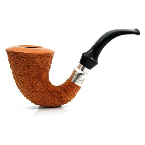 (Italian Briar First Grande Calabash 925 Silver Band Briar Tobacco Smoking Pipe Brebbia)