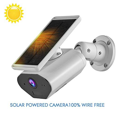 2019 New Outdoor Solar Powered Security Camera,CTVISON 2.4GHz WiFi Wireless Home Security Camera, Night Vision,Motion Detection,Rechargeable Battery, Two-Way Audio, IP66 Waterproof,Works with Alexa (Best Home Security Camera Outdoor 2019)