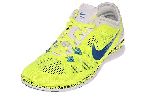 Nike Womens Free 5.0 Tr Fit 5 Wc Scarpe Da Corsa Volt Bianco Luce Blu Volt Bianco Luce Blu