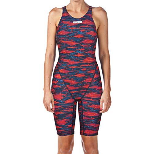 Arena Women's Powerskin St 2.0 LE Open Back racesuit, Blue-Red, (Total Sports Swimwear)