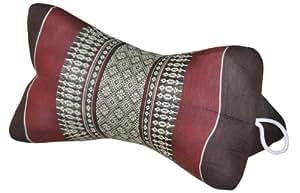 """Cojín Thai """"Star"""", almohada, importado de Tailandia, marrón/Burdeos (82510)"""