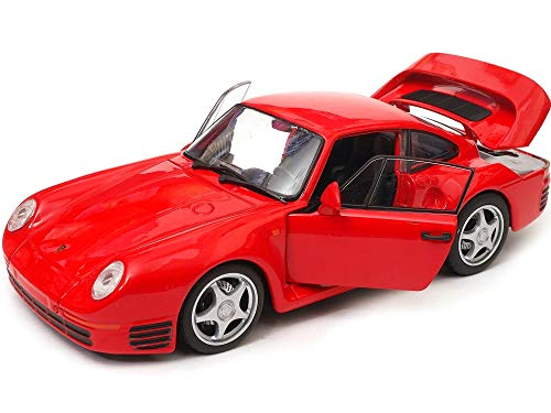 Welly 959 Red with Silver Wheels NEX Models 1/24 Diecast Model Car 24076