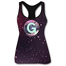 RETHYJU Girl in Space Logo Women's Summer Casual Vest Workout T Shirt Sleeveless - Racerback Tank Tops for Womens