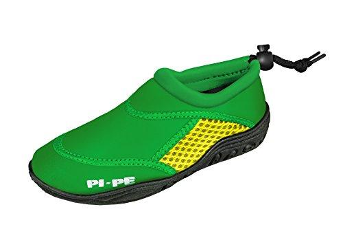 PI-PE–Escarpines infantiles Active Aqua shoes verde y amarillo