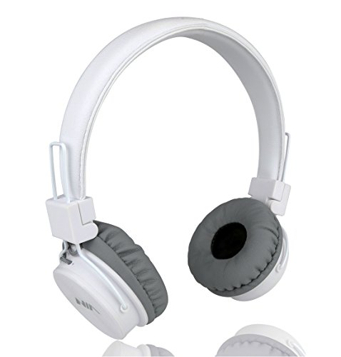 Wired Kids Headphones with Microphone and share port, Foldable Lightweight Adjustable Stereo Headset for Cellphones Smartphones iPhone iPod Laptop Computer and More by Termichy (White)