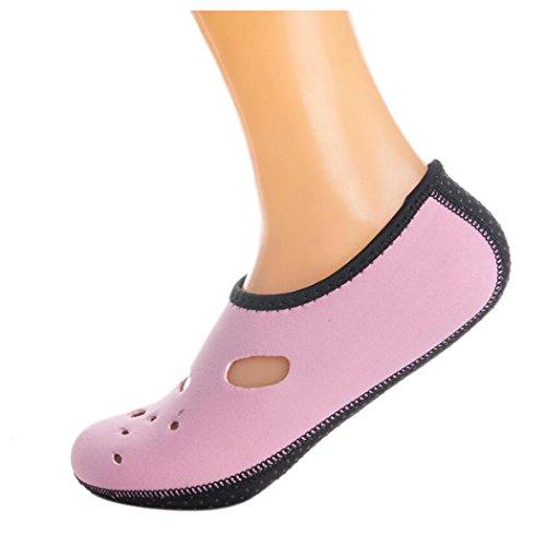 Inkach Water Sportschoenen - Unisex Sneldrogend Blootvoets Huid Aqua Sokken Yoga Zwembad Surf Waterschoenen Roze