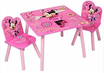 Legno Massiccio Disney Minnie Mouse Set Di Tavolo E Sedia Ufficiale Di Disney Amazon It Casa E Cucina