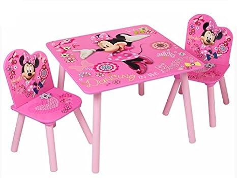 Set Tavolo E Sedie Minnie.Disney Legno Massiccio Minnie Mouse Set Di Tavolo E Sedia