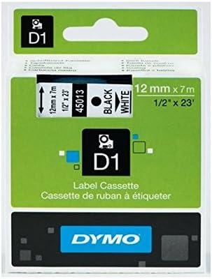 7/m compatibile con molte etichettatrici 6mm RED ON WHITE lunghezza 3 Nastri DYMO D1 per etichettatura standard