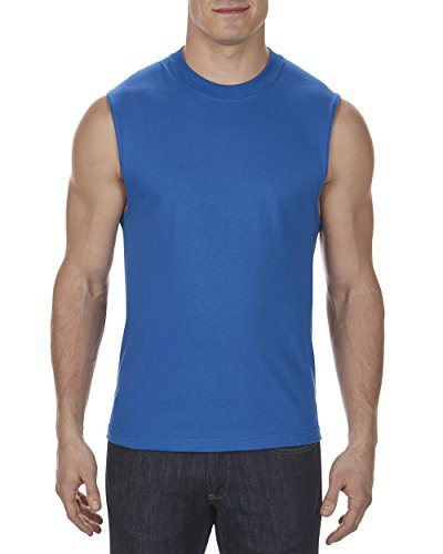 Alstyle Apparel AAA Men's Classic Sleeveless Muscle T-Shirt, Royal Blue, X-Large (Jersey Screen Print Sleeveless)