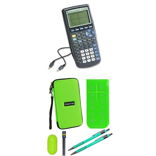 Texas Instruments TI-83 Plus Graphing Calculator With Travel Case And Essential Graphing Accessory Bundle, Green by Texas Instruments