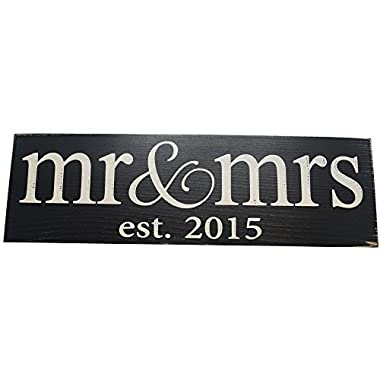 Local Artist Mr & Mrs Est. 2015 Wood Sign Wedding Wall Decoration