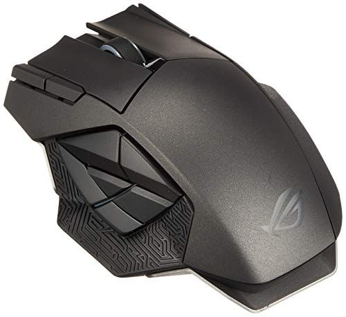 ASUS RGB Laser Gaming Mouse - ROG Spatha   Wireless/Wired Gaming Mouse for PC   for Right-Handed Gamers   8200 DPI Laser Sensor   Ultra-Precise Mouse Tracking for MMO Games   3D Printer Friendly