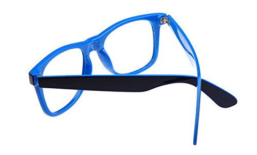 Bright Blue Glasses Frames : Outray Unisex Retro 80 Clear Lens Glasses 2231C2 Blue ...