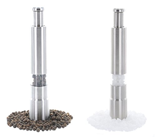 Crafty Gizmos Mini Salt and Pepper Grinder Set - A Fresh, Healthy, and Stylish Upgrade to Traditional Salt and Pepper Shakers