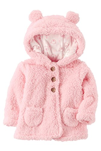 Carter's Baby Girls' 3M-24M Hooded Sherpa Jacket 6 Months
