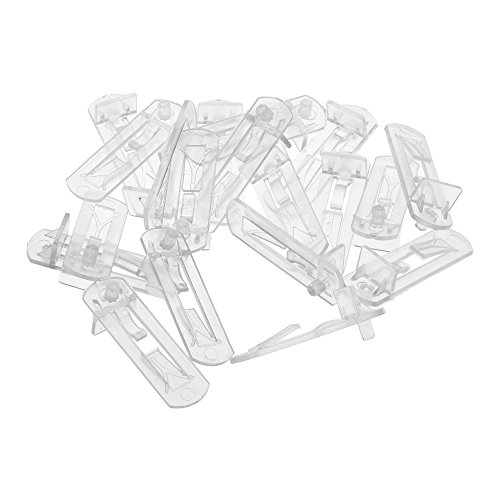 Bluecell 20 Pieces Plastic Transparent Color Self-Locking Shelf Support Peg for 20mm Thickness Board