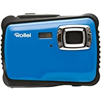 Rollei Sportsline 64 Digital Camera - Waterproof up to 3 m, 9 Shooting modes, 8x Zoom, Adjustable white balance - Blue