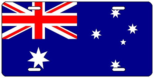 (Rogue River Tactical Australian Flag License Plate Novelty Auto Car Tag Vanity Gift Australia)