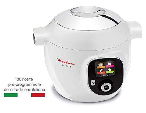 Moulinex Cookeo + CE8511, Multicooker, 150 Ricette Pre-Programmate, 6 Modalità di Cottura, Capacità 6 Litri, Bianco 2