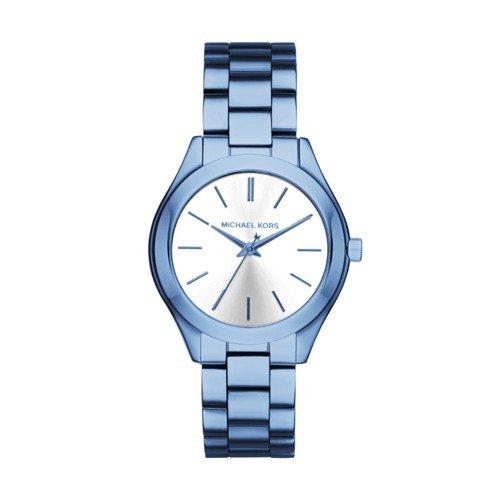 Michael Kors Women's Quartz Stainless Steel Casual Watch, Color:Blue (Model: MK3674)