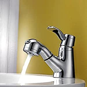 Solid Brass Pull Out Bathroom Sink Faucet Chrome Finish Bathroom Sink Faucets Amazon Canada