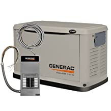 Generac Power Pact 6437 11,000 Watt Air-Cooled Steel Enclosure Liquid Propane/Natural Gas Powered Standby Generator (CARB Compliant) with 12-Circuit Transfer Switch
