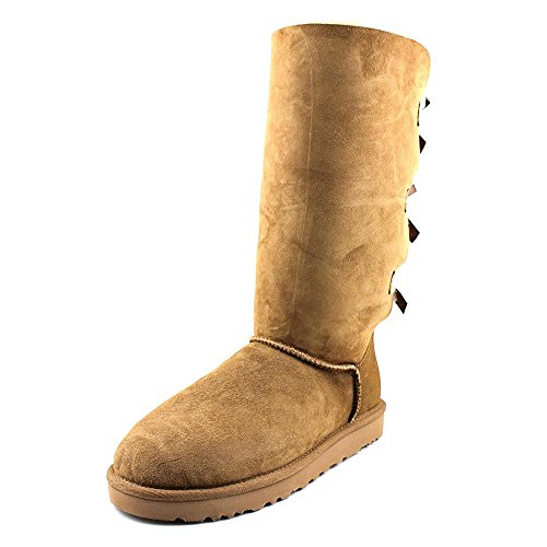 UGG Women's Bailey Bow Tall Chestnut 10 B - Medium by UGG