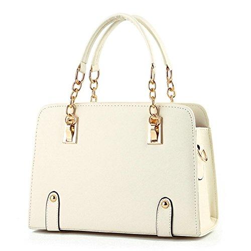 BeAllure Women's Stylish Designer Top-Handle Handbag for Ladies (Beige) by BeAllure