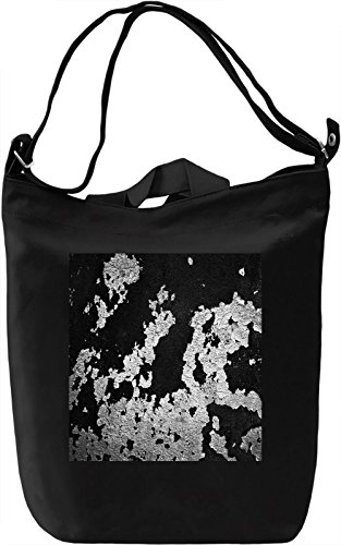 Black and White Wall Print Borsa Giornaliera Canvas Canvas Day Bag| 100% Premium Cotton Canvas| DTG Printing|