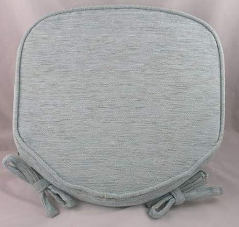Cojín para silla (chenille) con ribeteado, color azul ...