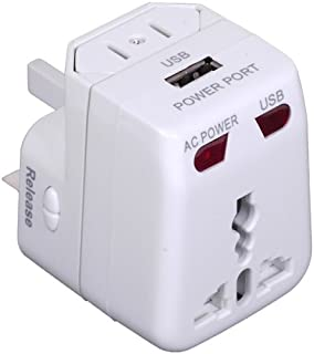 Travelon Worldwide Adapter and USB Charger, White, One Size