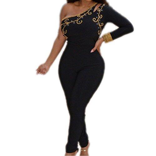 Esperanzaa - Jumpsuit 2 Style Hand-Beaded Kaftan, Abaya M