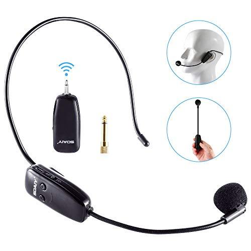 UHF Wireless Microphone Headset
