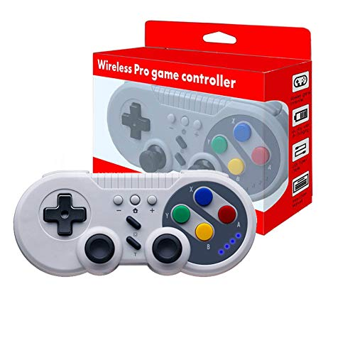 JFUNE Wireless Pro Game Controller Classic Gamepad for Nintendo Switch, PC Video Games, Android Device (Old School Style) (Fantasy Games For Pc)