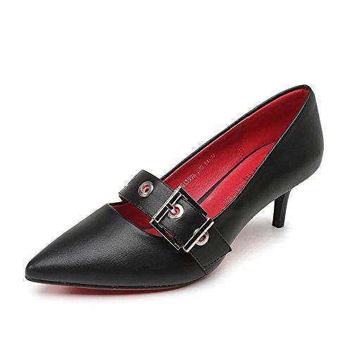 PUMPS Damen High Heels,Oberflächliche Spitzen Stöckelschuhen-B Fußlänge=23.8CM(9.4Inch)
