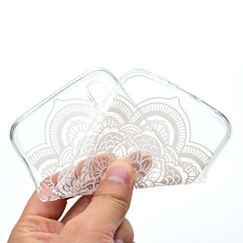 iPhone X Hülle Runde Blumen Premium Handy Tasche Schutz Transparent Schale Für Apple iPhone X / iPhone 10 (2017) 5.8 Zoll + Zwei Geschenk