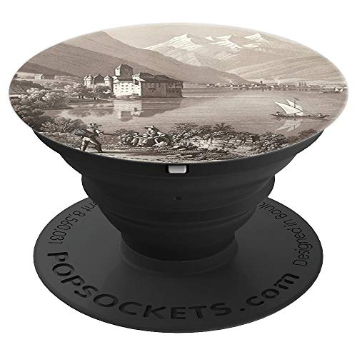 Chillon Castle Near Montreux Antique Engraving - PopSockets Grip and Stand for Phones and Tablets