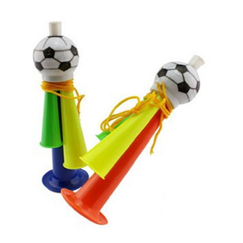 YOYOSTORE 1 Pc Multi-color Stadium Fan Cheer Plastic Horn Bugle Vuvuzela Soccer Football Party Carnival Sports Games Toy Gift - Randomly Color