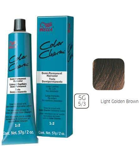 Wella Light Golden Brown Demi Permanent Hair Color 5G-5/3 Light Gold - Brown Light Gold