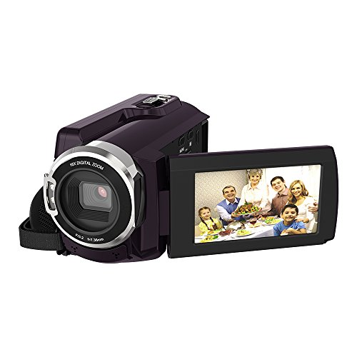 Video Camcorder, Andoer 4K Camcorder 48MP Digital Video Camera 2880 x 2160 HD 3inch Touchscreen Handy Camera with IR Night Vision Support 16X Zoom 128GB Max Storage