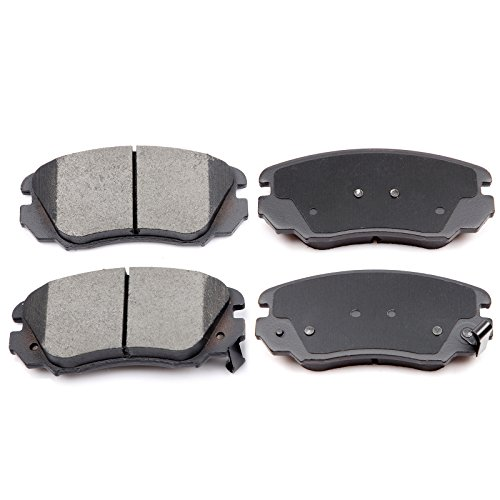 Chevy Metal Front Brake Pad - ECCPP 4pcs Ceramic Disc Brake Pads Front Kits for 13 14 15 Chevy Malibu 10 11 12 13 14 15 16 Chevy Equinox GMC Terrain Buick LaCrosse 10 Buick Allure 11 12 13 14 15 Buick Regal 11 Saab 9-5