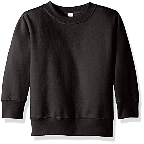 Clementine Apparel Girls' Little (2-7) Apparel Toddler's Fleece Sweatshirt, Black ()