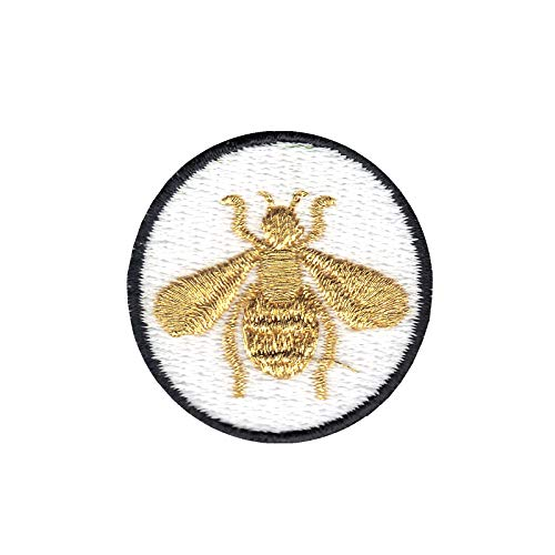 Embroidered Bumble Bee (Bumble Bee DIY Iron On Embroidered Applique Patch)