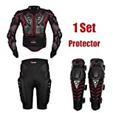 Motorcycle Body Armor Motocross Armour Motorcycle Jackets+ Gears Short Pants+protective Motocycle Knee Pad