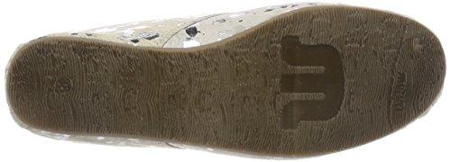 Maruti Women's Gimlet Hairon Leather Ankle Boots, Black Silver (Splash White Silver Zg2)