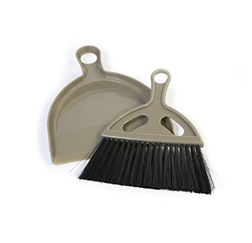 Pet Champion PCDPPP416 Cat Litter Mini Brush and Dust Pan, Small, Tan (Polypropylene Dust Pan)
