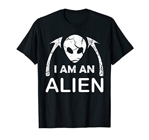 I AM AN Alien Halloween Costume T-Shirt for Men Women Kids ()
